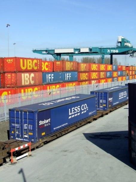 Grangemouth rail line freight