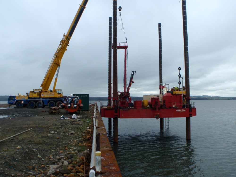 Jack up rig undertaking geotechnical investigations in November 2014